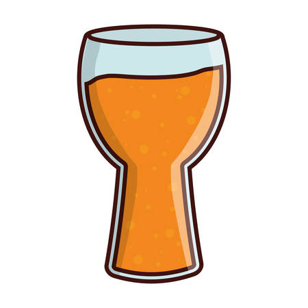 Beer glass icon. Pub alcohol bar brewery and drink theme. Isolated design. Vector illustration Illustration