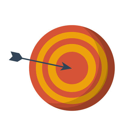 Target icon. Solution success strategy idea and innovation theme. Isolated design. Vector illustration Illustration