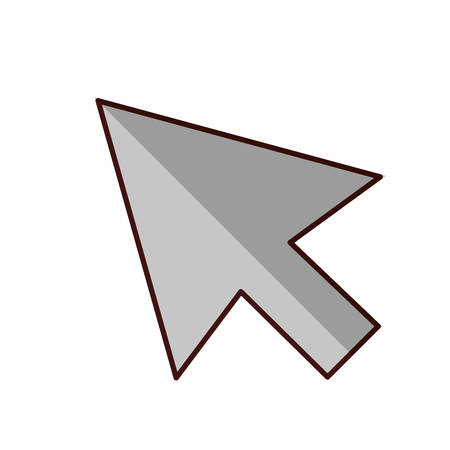 Arrow icon. Direction element web and interface theme. Isolated design. Vector illustration