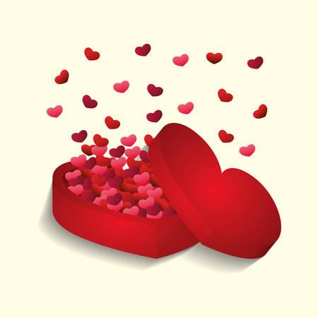 postcard box: Heart love icon vector illustration graphic design