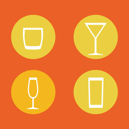 Coktail bar bevanda icona illustrazione vettoriale progettazione grafica