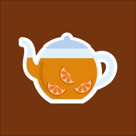 Delicious tea drink icon vector illustration graphic design