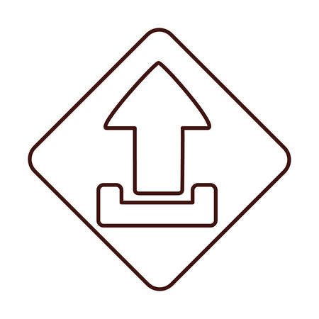 orientation marker: Arrow inside frame icon. Direction element web and interface theme. Isolated design. Vector illustration Illustration