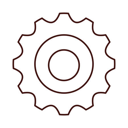 machine part: Gear object icon. Machine part technology industry and wheel theme. Isolated design. Vector illustration