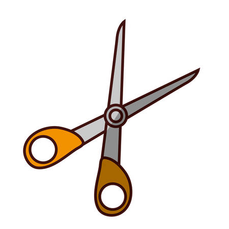 scissor cut tool icon vector illustration graphic design Illustration
