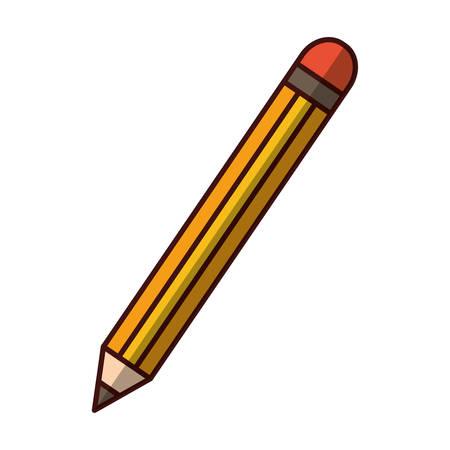 grafit: drewniany ołówek naczynie ikona wektor ilustracja projekt graficzny