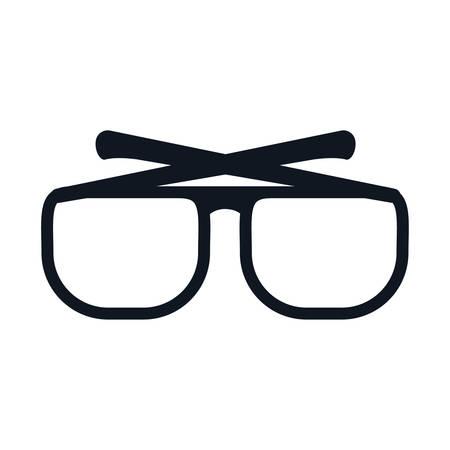 glasses optical style icon vector illustration graphic design