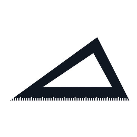triangle ruler isolated icon vector illustration graphic design