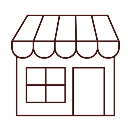 shopfront: Local shop building icon vector illustration graphic design