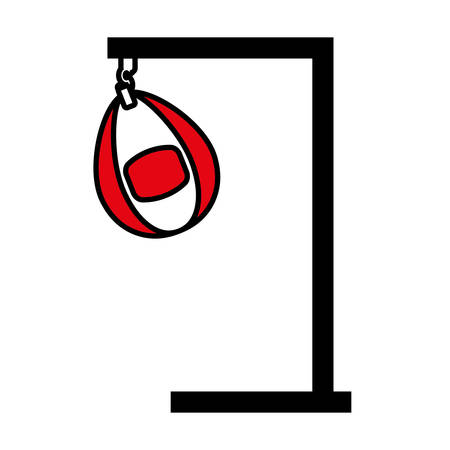 punching: punching bag isolated icon vector illustration design