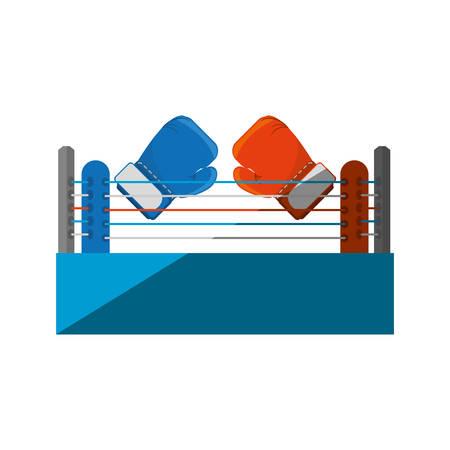 spotlit: Boxing quadrilateral isolated icon vector illustration design