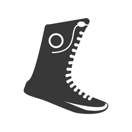 crosscountry: boxing shoes equipment isolated icon vector illustration design