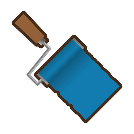 paintroller: roller paint tool isolated icon vector illustration design
