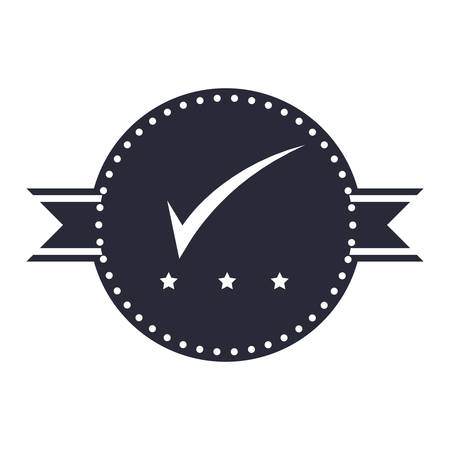 seal of approval: Seal of guarantee with approval symbol vector illustration design