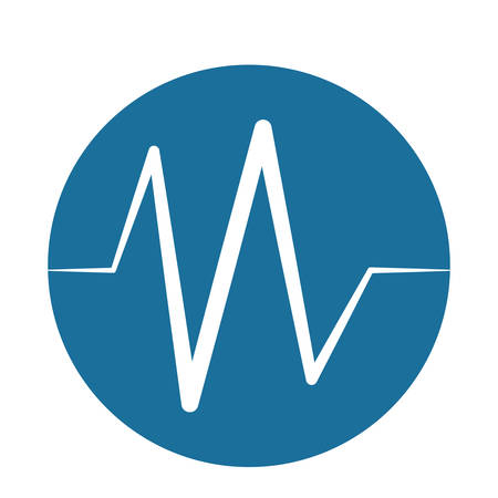 monitoring: heart beat pulse monitoring blue background vector illustration Illustration