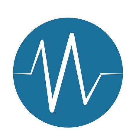 electrocardiograma: monitoreo de pulso latidos del corazón ilustración vectorial de fondo azul Vectores