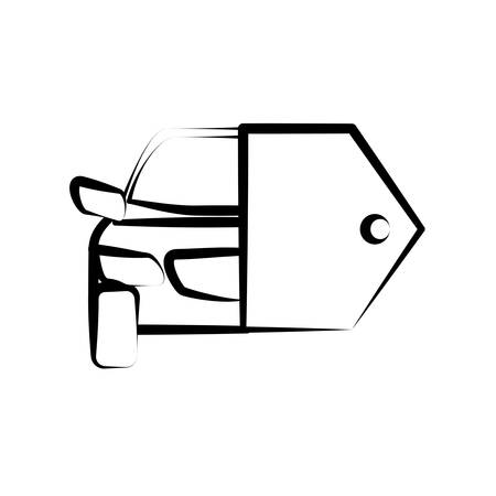 hand key: hand drawing car key sketch vector
