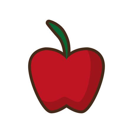 rich in vitamins: apple fruit health icon design vector illustration Illustration