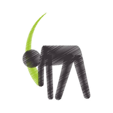 drawing colored silhouette sport woman exercise fitness icon vector illustration