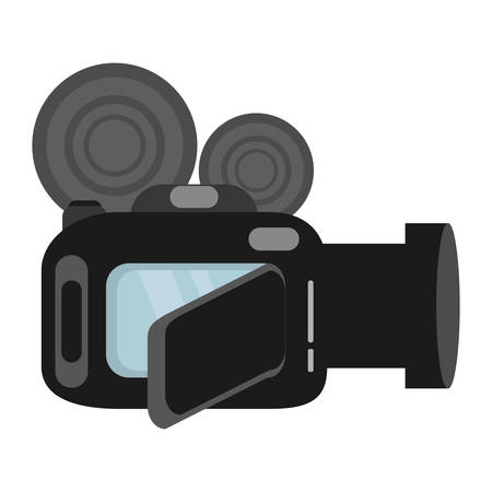 grabadora: video camera digital recorder wedding vector illustration