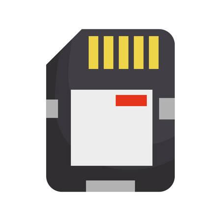 sd: Microsd flash memory icon vector illustration graphic design