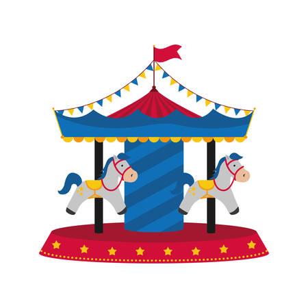 Carrousel circus festival icon vector illustration graphic design
