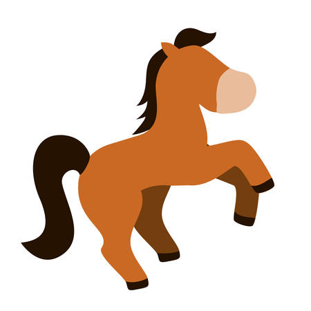 isolated horse cartoon icon vector illustration graphic design