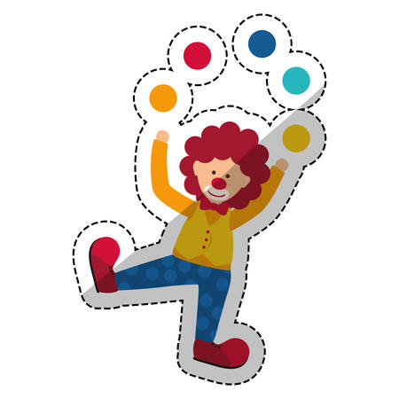 costume ball: Circus clown cartoon icon vector illustration graphic design