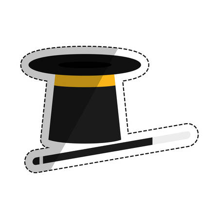 isolated magician hat icon vector illustration graphic design Illustration