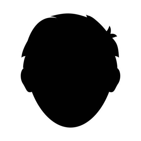 faceless: Faceless men cartoon icon vector illustration graphic design