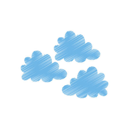 Clouds weather sky icon vector illustration graphic design