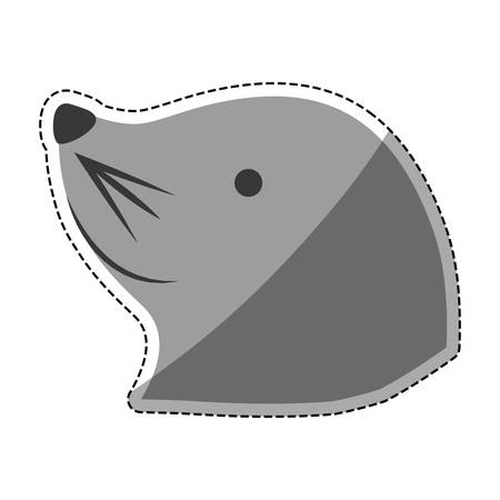 Sea lion cartoon icon vector illustration graphic design Illustration