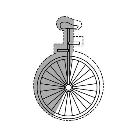vintage unicycle circus icon vector illustration graphic design