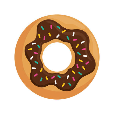 dessert buffet: delicious donut dessert icon vector illustration graphic design Illustration