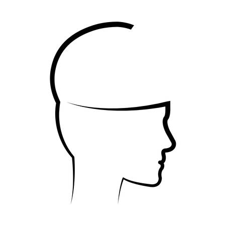 Human head silhouette icon vector illustration graphic design Illustration