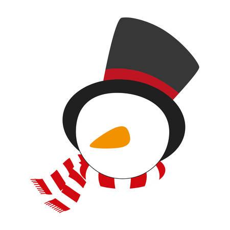 snowman xmas cartoon icon vector illustration graphic design