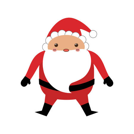 Santa claus xmas cartoon icon vector illustration graphic design