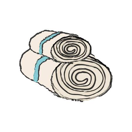 towels: Spa towels bath icon vector illustration graphic design Illustration