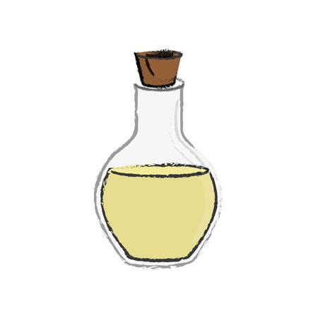 spa oil bottle icon vector illustration graphic design Illustration