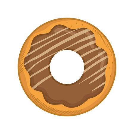 piecies: delicious donut dessert icon vector illustration graphic design Illustration