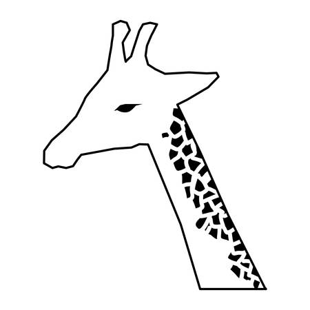 wildlife conservation: giraffe african animal icon vector illustration graphic design