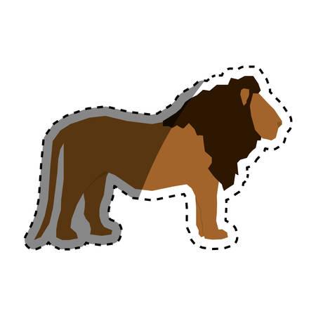 lion african animal icon vector illustration graphic design