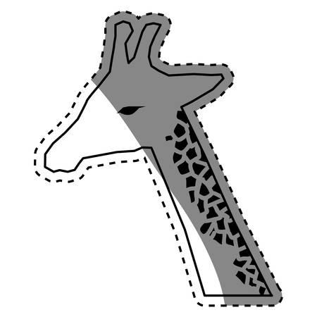 giraffe african animal icon vector illustration graphic design