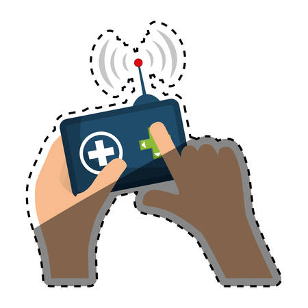 Drone robot technology icon vector illustration graphic design Illustration
