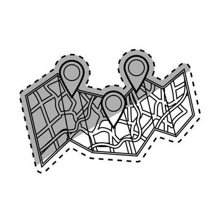 GPS map location icon vector illustration graphic design Illustration