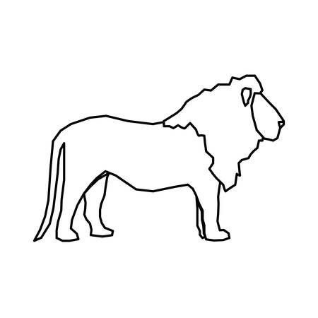 lion african animal icon vector illustration graphic design