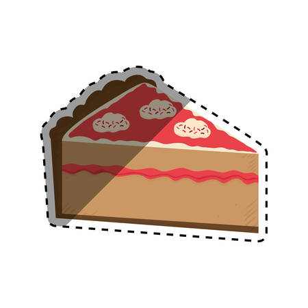 dessert buffet: delicious Cake dessert icon vector illustration graphic design