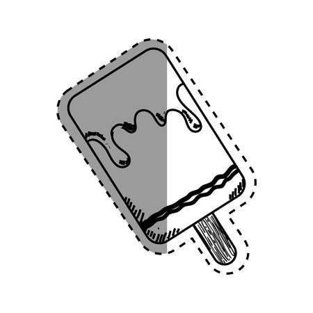fiambres: Delicious ice cream icon vector illustration graphic design