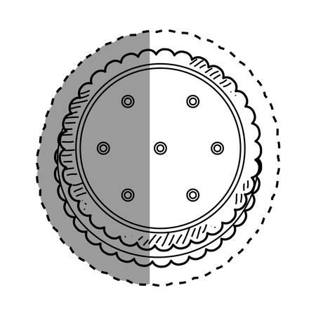 piecies: delicious cookie Cartoon icon vector illustration graphic design Illustration