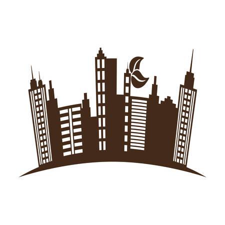 City urban buildings icon vector illustration graphic design Illustration